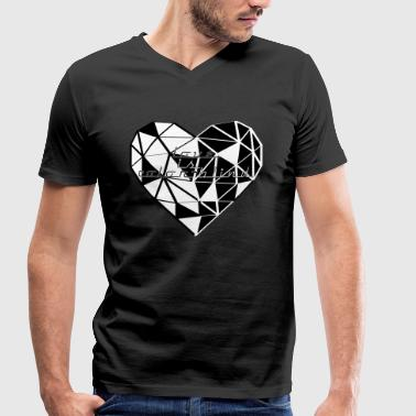 HEART TRIANGLE LOVE IS COLOR-BLIND HEART TRIANGLE - Men's Organic V-Neck T-Shirt by Stanley & Stella