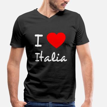 Sex Italy I LOVE ITALY - Men's Organic V-Neck T-Shirt by Stanley & Stella