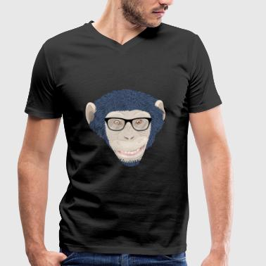chimpanzee - Men's Organic V-Neck T-Shirt by Stanley & Stella