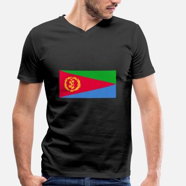 Eritrea Eritrea Flag - Men's Organic V-Neck T-Shirt by Stanley & Stella