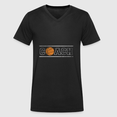 Gift Coach Coach Basketballer Basketball - Men's Organic V-Neck T-Shirt by Stanley & Stella