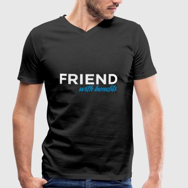 Benefit Friend With Benefits - Men's Organic V-Neck T-Shirt by Stanley & Stella
