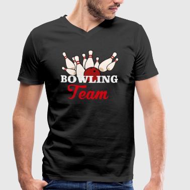 Squadra Di Bowling Squadra di bowling - T-shirt ecologica da uomo con  scollo a c84a0f8e8425