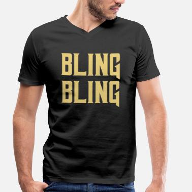Gangster Rap bling bling gold rap gift gangster - Men's Organic V-Neck T-Shirt by Stanley & Stella