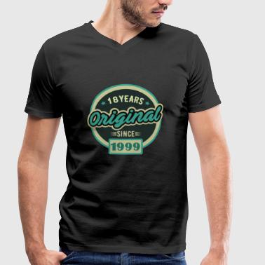 Gift for 18 year old, 18 years - Men's Organic V-Neck T-Shirt by Stanley & Stella