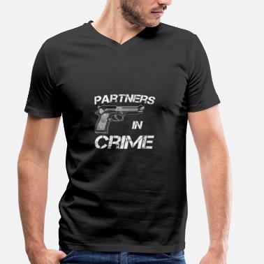 Crime Partner van Crime Partners in Crime Idea - Mannen bio T-shirt met V-hals van Stanley & Stella