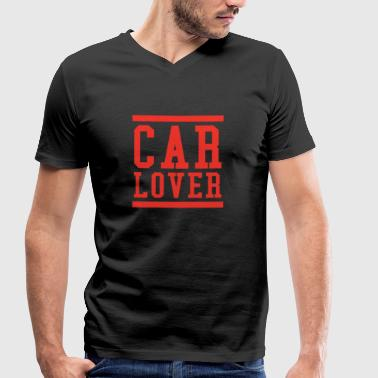 Car lover cars sayings gift idea slogan - Men's Organic V-Neck T-Shirt by Stanley & Stella