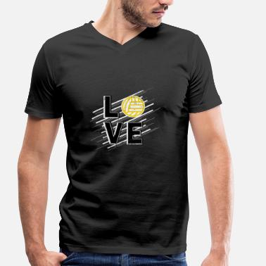 Love Volleyball Volleyball Love Love Volleyball Gift - Men's Organic V-Neck T-Shirt by Stanley & Stella