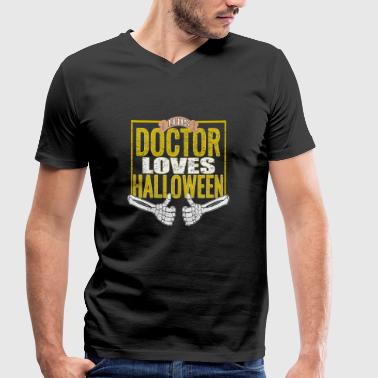 Doctor Love This Doctor Loves Halloween Doctor Doctor Costume - Men's Organic V-Neck T-Shirt by Stanley & Stella