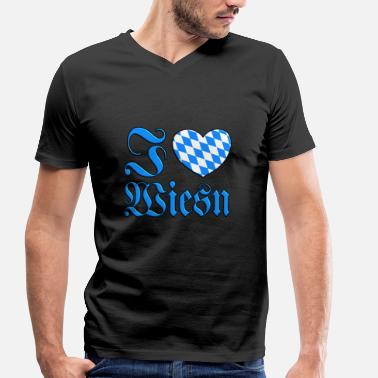 I Love Wiesn I love Wiesn Oktoberfest - Men's Organic V-Neck T-Shirt by Stanley & Stella