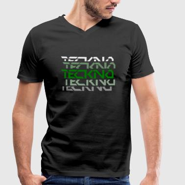 Techno Rave Music Best Sound - Men's Organic V-Neck T-Shirt by Stanley & Stella