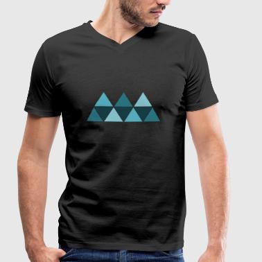 Triangle Geometry Triangle Blue AllroundDesigns - Men's Organic V-Neck T-Shirt by Stanley & Stella