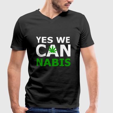 Yes we can cannabis - Men's Organic V-Neck T-Shirt by Stanley & Stella