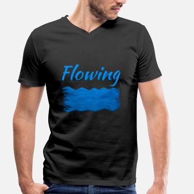 Flowing Flowing - Men's Organic V-Neck T-Shirt by Stanley & Stella