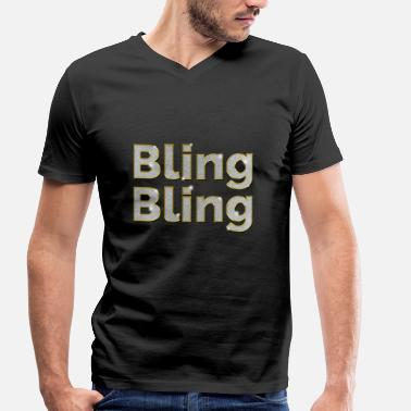 Bling Bling Bling - Men's Organic V-Neck T-Shirt by Stanley & Stella