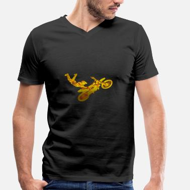 Dirt Jump Motocross Dirt Jump - Men's Organic V-Neck T-Shirt by Stanley & Stella