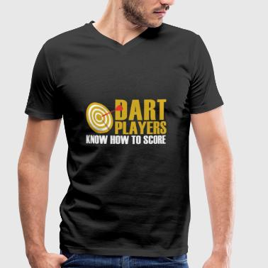 Darts player - Men's Organic V-Neck T-Shirt by Stanley & Stella
