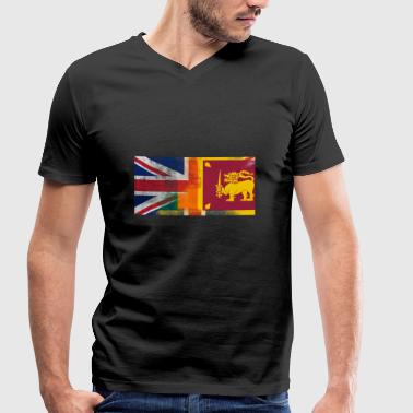 Sri British Sri Lanka Half Sri Lanka Half UK Flag - Men's Organic V-Neck T-Shirt by Stanley & Stella