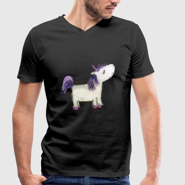 Offender Offended unicorn - Men's Organic V-Neck T-Shirt by Stanley & Stella