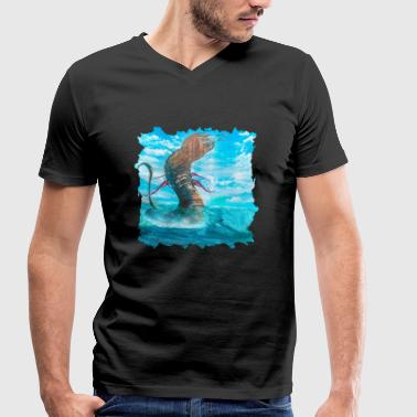 Leviathan Leviathan! - Men's Organic V-Neck T-Shirt by Stanley & Stella