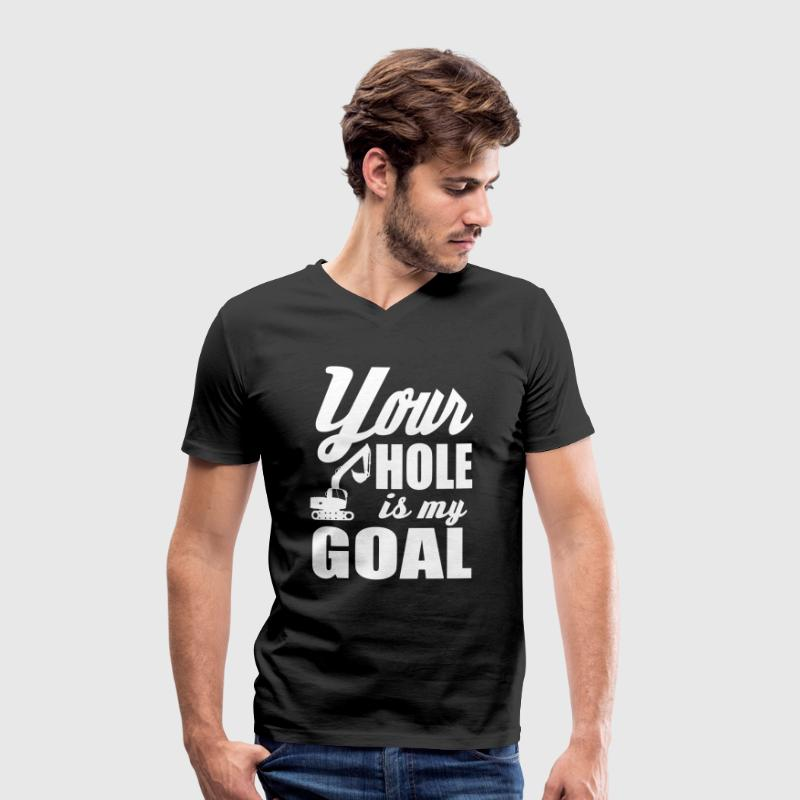 digger / power shovel: your hole is my goal - Men's Organic V-Neck T-Shirt by Stanley & Stella