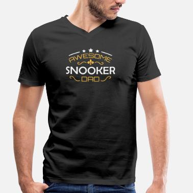 Snooker Snooker papa - T-shirt bio col V Stanley & Stella Homme