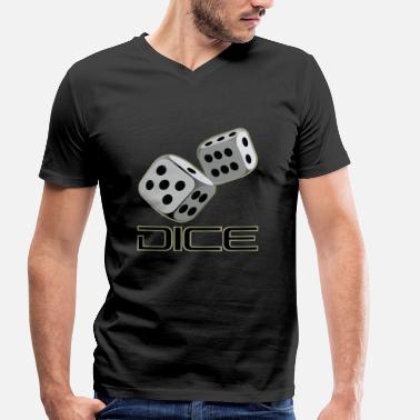 Lucky Dice DICE - DICE - Men's Organic V-Neck T-Shirt by Stanley & Stella