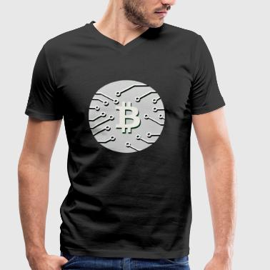Covetousness Bitcoin BTC cryptocurrency gift idea nerd - Men's Organic V-Neck T-Shirt by Stanley & Stella