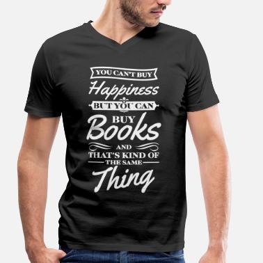You Cant Buy Happiness You cant buy happiness but you can buy books - Mannen bio T-shirt met V-hals van Stanley & Stella