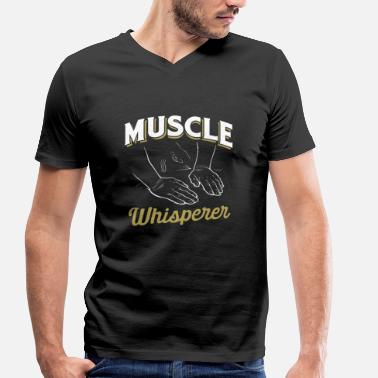 Massage Physiotherapist Muscle Whisperer - Masseur Massage Physiotherapist - Men's Organic V-Neck T-Shirt by Stanley & Stella