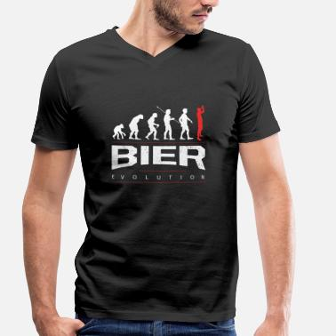 Beer Evolution  The beer evolution - Men's Organic V-Neck T-Shirt by Stanley & Stella