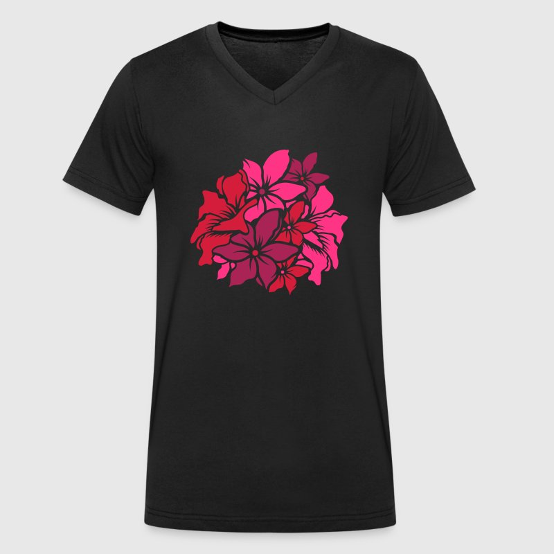 a bouquet of flowers - Men's Organic V-Neck T-Shirt by Stanley & Stella
