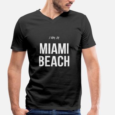 Miami Beach MIAMI BEACH - Men's Organic V-Neck T-Shirt by Stanley & Stella
