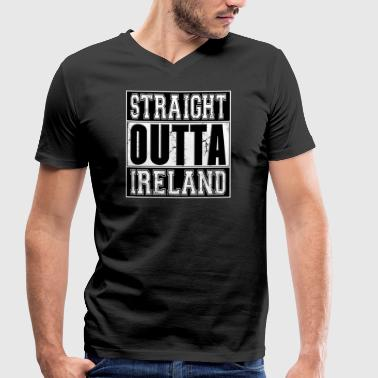 Straight Outta Ireland 001 AllroundDesigns - Men's Organic V-Neck T-Shirt by Stanley & Stella