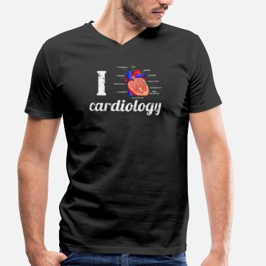 Anatomical Figure I love Cardiology Anatomical Heart - Men's Organic V-Neck T-Shirt by Stanley & Stella