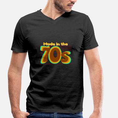 Made 70s Made in the 70s, 70s design - Men's Organic V-Neck T-Shirt by Stanley & Stella