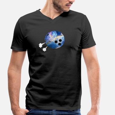 Strike Ball Bowling Ball Hissing Strike Bowling - Men's Organic V-Neck T-Shirt by Stanley & Stella