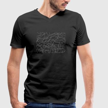 Jumbled lines - Men's Organic V-Neck T-Shirt by Stanley & Stella
