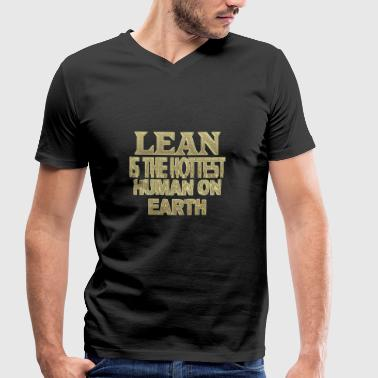 Lean Lean - Men's Organic V-Neck T-Shirt by Stanley & Stella