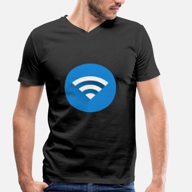 Wifi WiFi (WiFi) - Men's Organic V-Neck T-Shirt by Stanley & Stella
