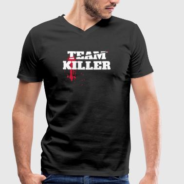 Teamkiller - Men's Organic V-Neck T-Shirt by Stanley & Stella
