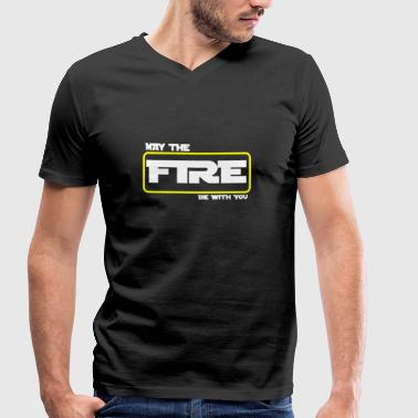 Emergency Services Firefighter Rescue Service 112 Emergency Call Pride - Men's Organic V-Neck T-Shirt by Stanley & Stella