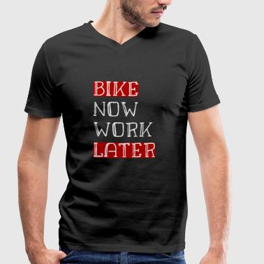 Bike Now Work Later BIKE NOW WORK LATER - Männer Bio-T-Shirt mit V-Ausschnitt von Stanley & Stella