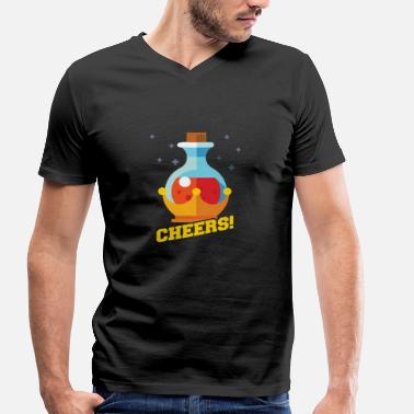 Magic Potion Cheers! Magic Potion - Gamer - Gaming - Men's Organic V-Neck T-Shirt by Stanley & Stella