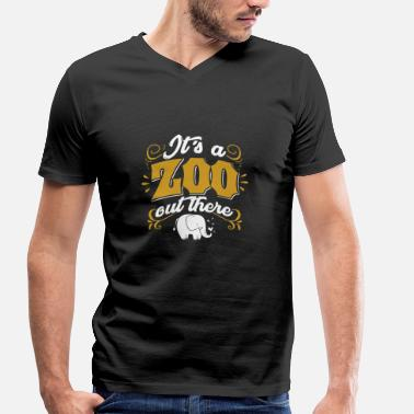 Animal De Zoo Zoo Zoo Zoologie animale Zoo Gardien des animaux - T-shirt bio col V Stanley & Stella Homme