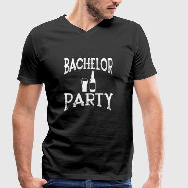 Bachelor Party Bachelor Party - Men's Organic V-Neck T-Shirt by Stanley & Stella