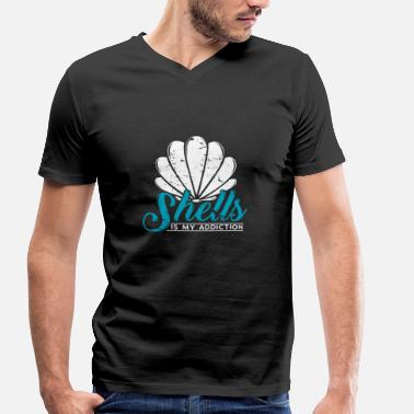 Shell Collecting shells is my addiction gift - Men's Organic V-Neck T-Shirt by Stanley & Stella