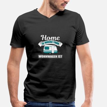 Caravan Quotes Gift camper camping caravan - Men's Organic V-Neck T-Shirt by Stanley & Stella