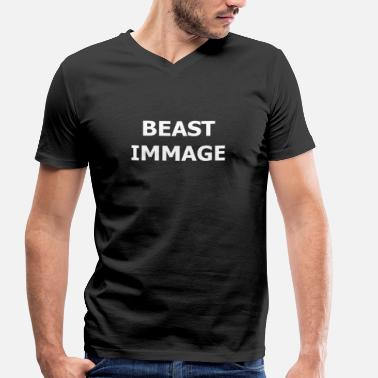 Image BEAST IMMAGE Sa force d'image de soi - T-shirt bio col V Stanley & Stella Homme