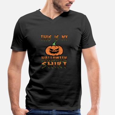 All Saints Day Halloween Trick or Treat All Saints Day - Men's Organic V-Neck T-Shirt by Stanley & Stella